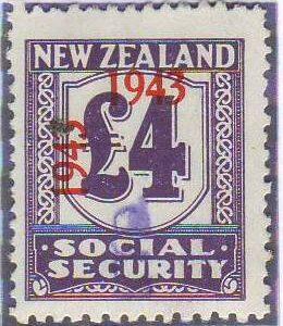 1943 Social Security 4 Pounds Violet