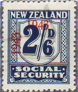 1943 Social Security 2/6 Indigo