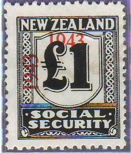 1943 Social Security 1 Pound Black