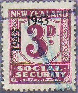 1943 Social Security 3d Mauve