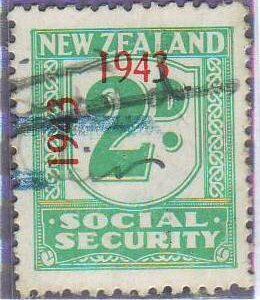1943 Social Security 2d Blue-Green