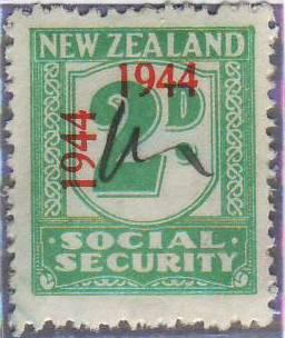 1944 - 1946 Social Security 2d Blue-Green