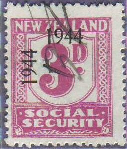1944 - 1946 Social Security 3d Mauve