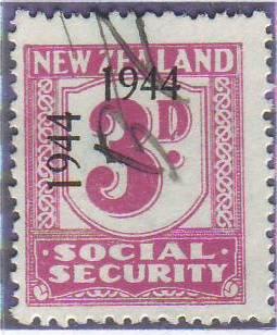 1944 - 1946 Social Security 3d Mauve