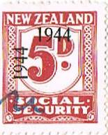 1944 - 1946 Social Security 5d Plum