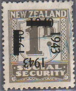 1943 on 1940 Provisionals 1d Grey
