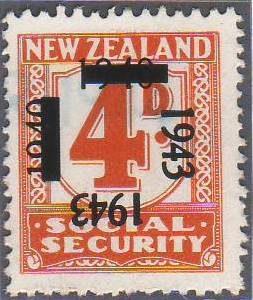 1943 on 1940 Provisionals 4d Orange