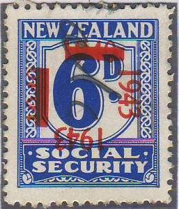 1943 on 1940 Provisionals 6d Blue