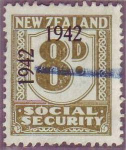 1942 Social Security 8d Olive-Green