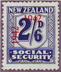 1942 Social Security 2/6 Indigo
