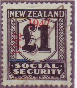 1942 Social Security 1 Pound Black
