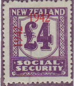 1942 Social Security 4 Pounds Violet