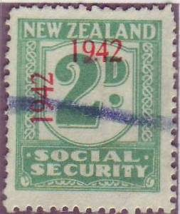 1942 Social Security 2d Blue-Green