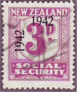 1942 Social Security 3d Mauve