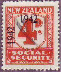 1942 Social Security 4d Orange