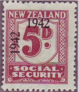 1942 Social Security 5d Plum
