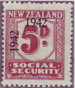 1942 Social Security 5d Plum