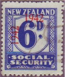 1942 Social Security 6d Blue