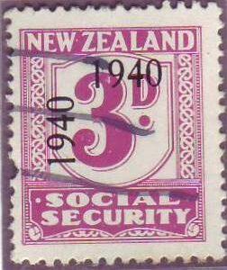 1940 - 41 Social Security 3d Mauve