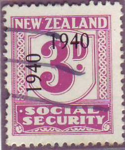 1940 - 41 Social Security 3d Mauve