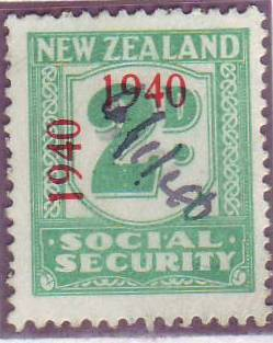 1940 - 41 Social Security 2d Blue-Green