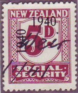1940 - 41 Social Security 5d Plum