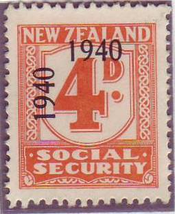 1940 - 41 Social Security 4d Orange