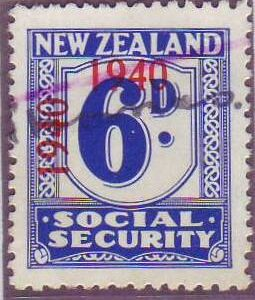 1940 - 41 Social Security 6d Blue