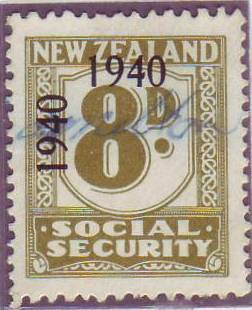 1940 - 41 Social Security 8d Olive-Green
