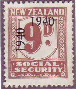 1940 - 41 Social Security 9d Pale Brown