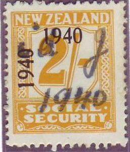 1940 - 41 Social Security 2/- Yellow