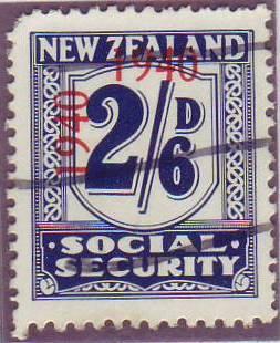 1940 - 41 Social Security 2/6 Indigo