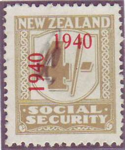 1940 - 41 Social Security 4/- Yellow-Olive