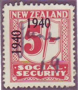 1940 - 41 Social Security 5/- Carmine