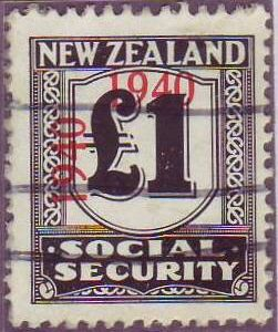 1940 - 41 Social Security 1 Pound Black