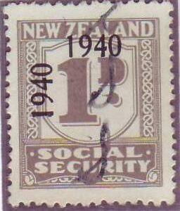 1940 - 41 Social Security 1d Grey