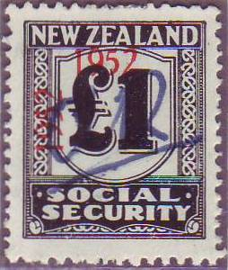 1947 - 58 Social Security 1 Pound Black