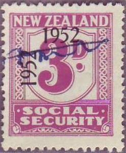 1947 - 58 Social Security 3d Mauve
