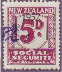 1947 - 58 Social Security 5d Plum