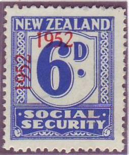 1947 - 58 Social Security 6d Blue