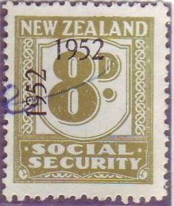 1947 - 58 Social Security 8d Olive-Green