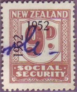 1947 - 58 Social Security 9d Pale Brown