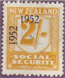 1947 - 58 Social Security 2/- Yellow