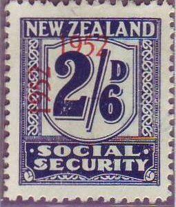 1947 - 58 Social Security 2/6 Indigo