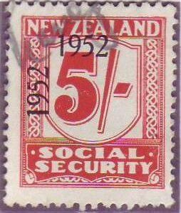 1947 - 58 Social Security 5/- Carmine