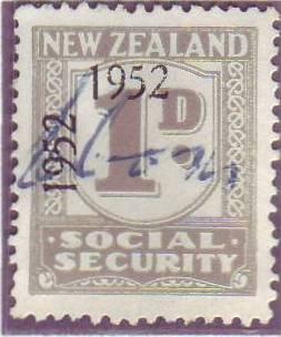 1947 - 58 Social Security 1d Grey
