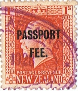 Passport Fee - 1/- Vermillion (George V Design)