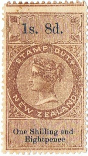 1/8 Brown & Blue (large type)