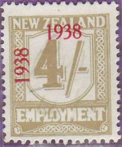 1938 - 39 Employment 4/- Yellow-Olive