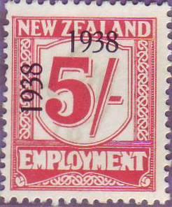 1938 - 39 Employment 5/- Carmine